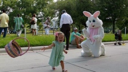 Kids Meeting the Easter Bunny