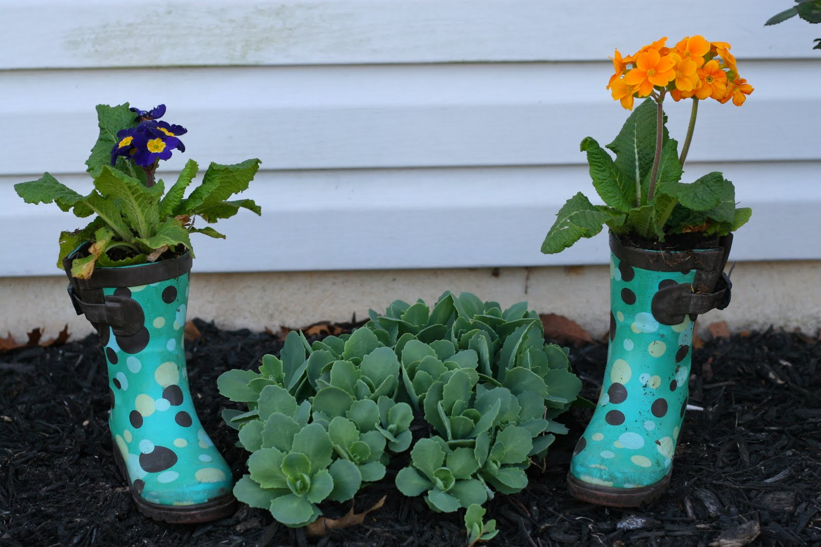 Gardening with Kids: DIY Rain Boot Planters